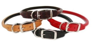 Deluxe Round Leather Collar