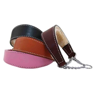 Martingale Collars with Shearling Lining