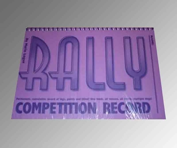 Rally Competition Record Book