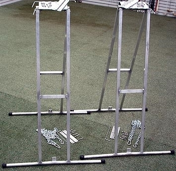 Adjustable Aluminum Dog Walk Bases & Hardware