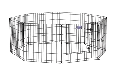"""Black E-Coated Exercise Pen-24"""" with Door"""