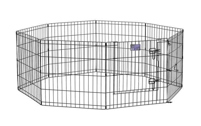"Black E-Coated Exercise Pen-24"" with Door"