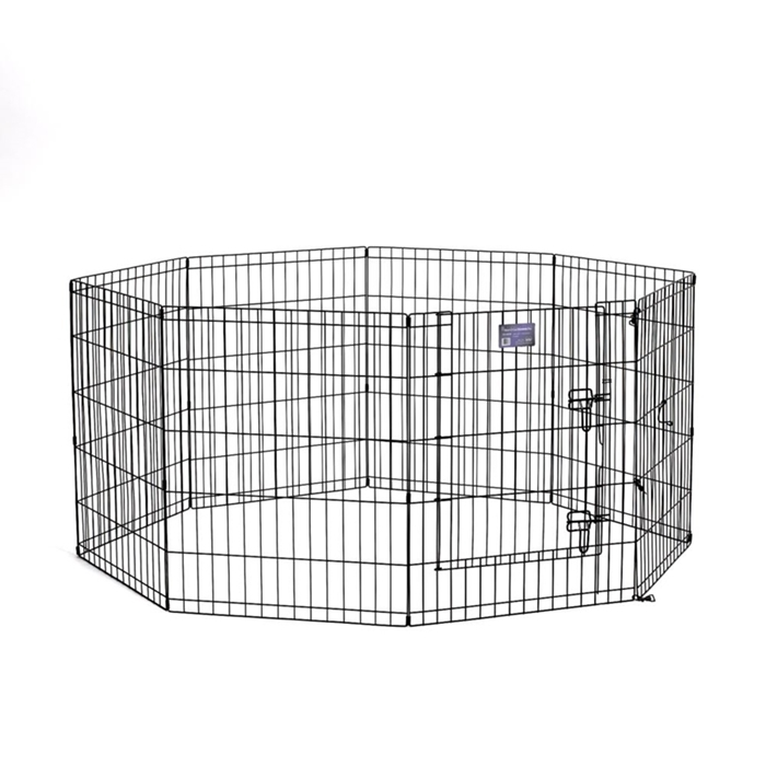 "Black E-Coated Exercise Pen-30"" with Door"