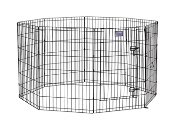 "Black E-Coated Exercise Pen-36"" with Door"