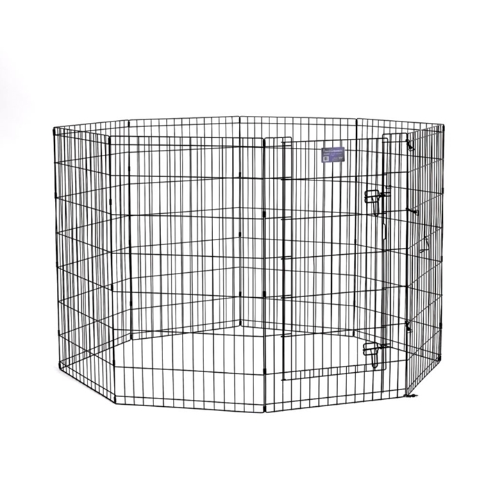 "Black E-Coated Exercise Pen-42"" with Door"