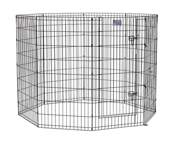 "Black E-Coated Exercise Pen-48"" with Door"