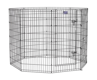 """Black E-Coated Exercise Pen-48"""" with Door"""