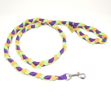 Braided Fur/Fleece Snap Leash
