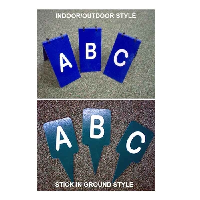 A,B,C, Obstacle Markers