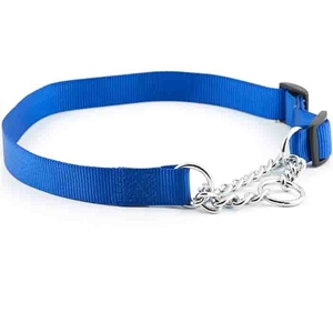 Nylon Check Choke Collars Blue
