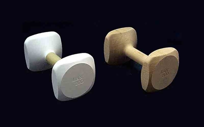 One-Piece Wood Turned Dumbbells