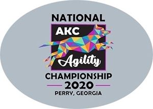 AKC 2020 Nationals Souvenir Model B Jump Logo